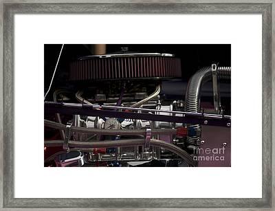 '31 Crown Victoria Engine Framed Print by Sean Stauffer