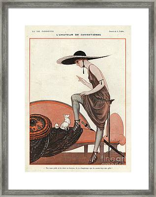 La Vie Parisienne 1922 1920s France Framed Print by The Advertising Archives