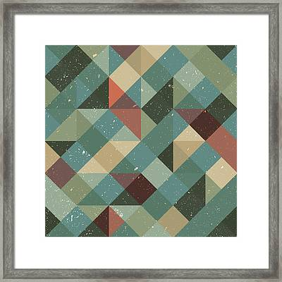 Pixel Art Framed Print by Mike Taylor