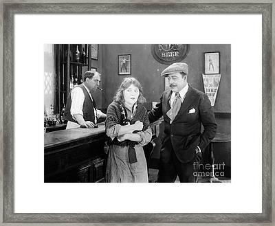 Silent Film Still: Drinking Framed Print by Granger