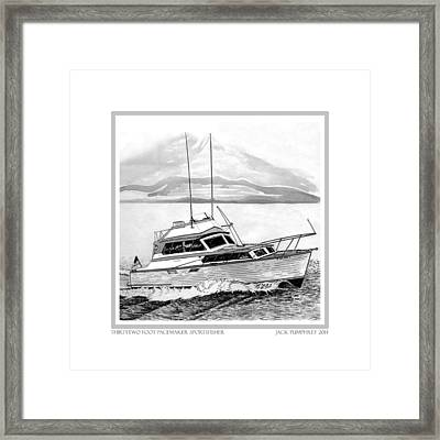 32 Foot Pacemaker Sportsfisher Framed Print by Jack Pumphrey