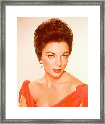 Joan Collins Framed Print by Silver Screen