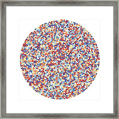 3422 Digits Of Pi Framed Print by Martin Krzywinski
