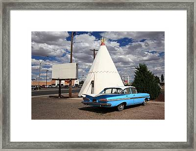 Route 66 - Wigwam Motel Framed Print by Frank Romeo