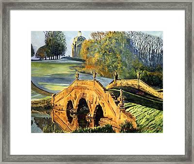 355 Ancient English Bridge Framed Print by David Lloyd Glover
