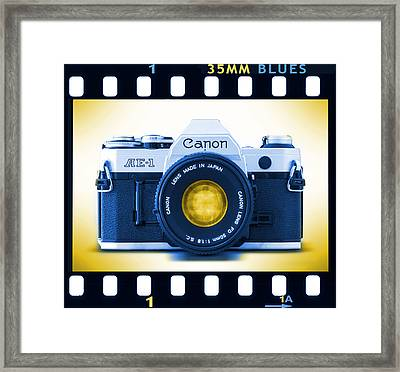 35mm Blues Canon Ae-1 Framed Print by Mike McGlothlen
