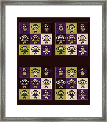 36 Bernhards From My Fairy Tales On Bown Framed Print by Asbjorn Lonvig