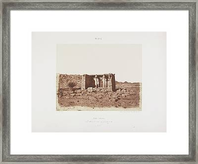 Photograph Of The Egyptian Landscape Framed Print by British Library