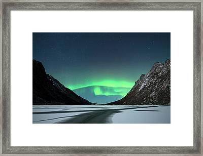 Aurora Borealis Framed Print by Tommy Eliassen
