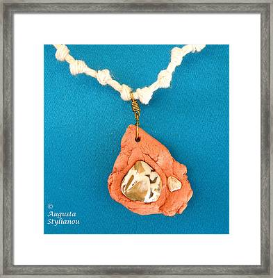 Aphrodite Gamelioi Necklace Framed Print by Augusta Stylianou