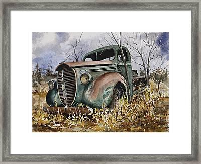 39 Ford Truck Framed Print by Sam Sidders