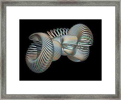 3d Fractal Klein Bottle Framed Print by Faye Giblin