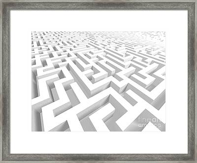 3d Maze - Version 2 Framed Print by Shazam Images