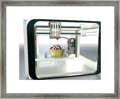 3d Printed Food Framed Print by Christian Darkin