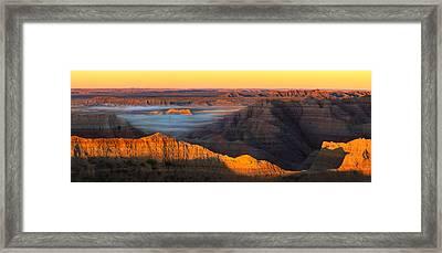 3d Sunrise  Framed Print by Kadek Susanto