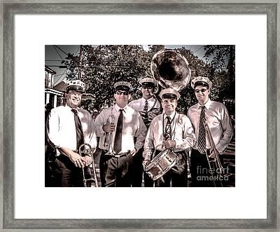 3rd Line Brass Band Framed Print by Renee Barnes