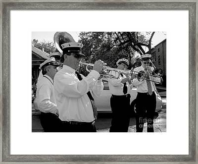3rd Line Brass Band Second Line Framed Print by Renee Barnes