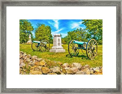 3rd Massachusetts Battery Gettysburg National Military Park Framed Print by Bob and Nadine Johnston