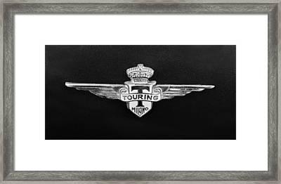 1962 Maserati 3500 Gt Emblem Framed Print by Jill Reger