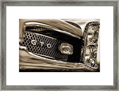 1966 Pontiac Gto Framed Print by Gordon Dean II