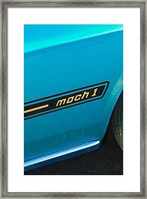 1969 Ford Mustang Mach 1 Side Emblem Framed Print by Jill Reger