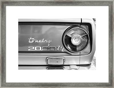 1972 Bmw 2000 Tii Touring Taillight Emblem -0182bw Framed Print by Jill Reger