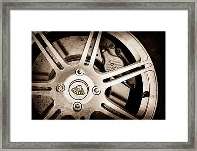 2005 Lotus Elise Wheel Emblem Framed Print by Jill Reger
