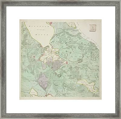 A Detailed Survey Map Of The New Forest Framed Print by British Library