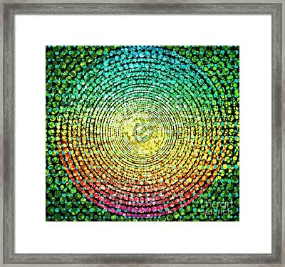 Abstract Dot Framed Print by Atiketta Sangasaeng