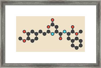 Advantame Sugar Substitute Molecule Framed Print by Molekuul