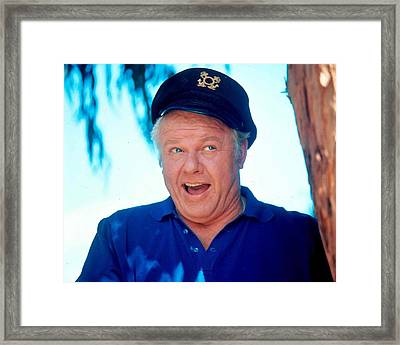 Alan Hale Jr. In Gilligan's Island  Framed Print by Silver Screen