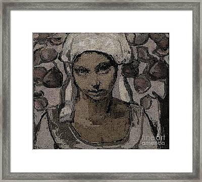 Alone In The Garden Framed Print by Pemaro