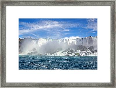 American Falls Framed Print by Charline Xia