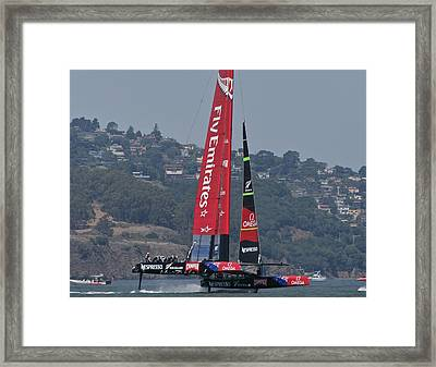 America's Cup San Francisco Framed Print by Steven Lapkin