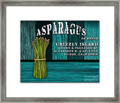 Asparagus Farm Framed Print by Marvin Blaine
