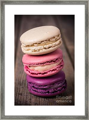 Assorted Macaroons Vintage Framed Print by Jane Rix