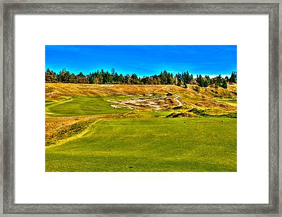 #4 At Chambers Bay Golf Course - Location Of The 2015 U.s. Open Championship Framed Print by David Patterson