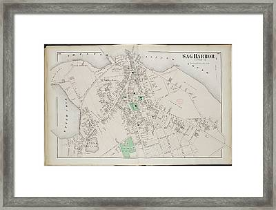 Atlas Of Long Island Framed Print by British Library