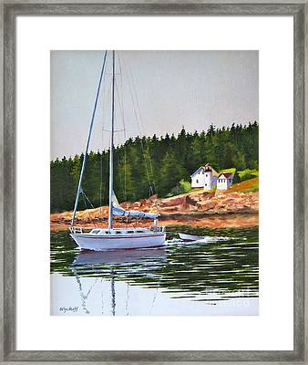 Bass Harbor Light Framed Print by Karol Wyckoff