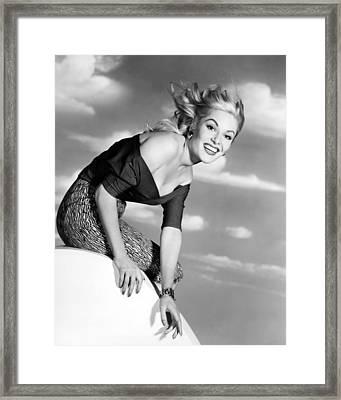 Belinda Lee Framed Print by Silver Screen