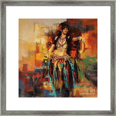 Belly Dancer 9 Framed Print by Corporate Art Task Force