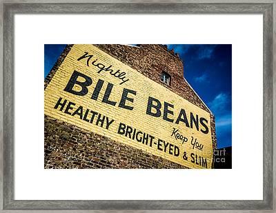 Bile Beans Advertising Framed Print by Bailey Cooper