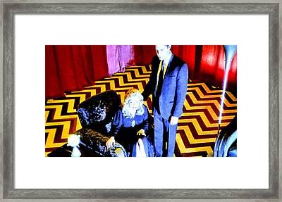 Black Lodge Framed Print by Luis Ludzska