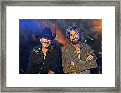 Brooks And Dunn Framed Print by Don Olea