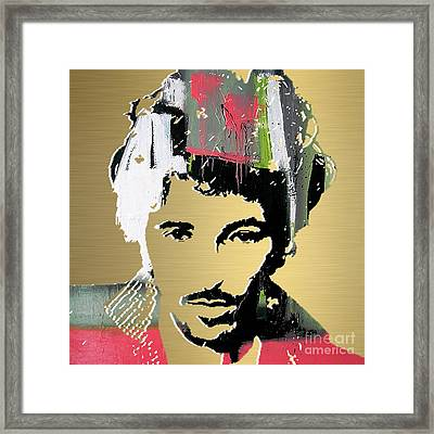 Bruce Springsteen Gold Series Framed Print by Marvin Blaine