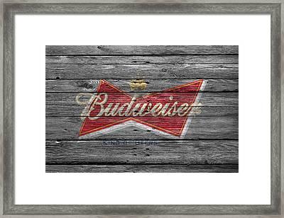 Budweiser Framed Print by Joe Hamilton