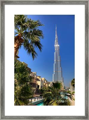 Burj Khalifa Dubai Framed Print by Fototrav Print