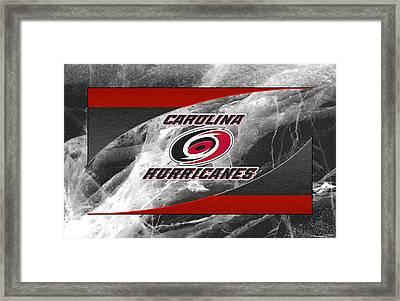 Carolina Hurricanes Framed Print by Joe Hamilton