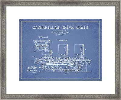Caterpillar Drive Chain Patent From 1952 Framed Print by Aged Pixel