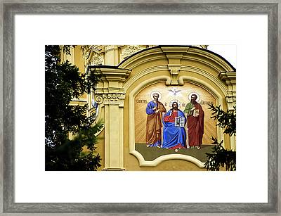 Cathedral Of Saints Peter And Paul - St Petersburg - Russia Framed Print by Jon Berghoff